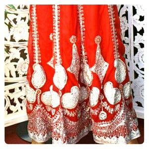 Vintage East Indian wedding skirt
